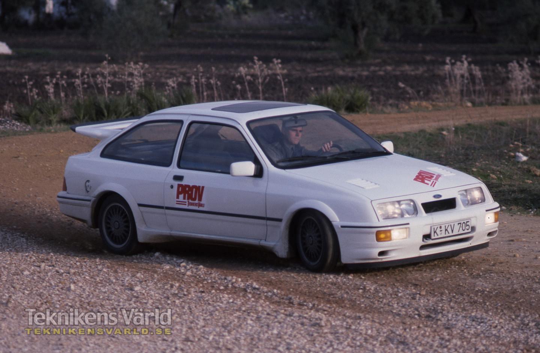 Provkörning av Ford Sierra RS Cosworth