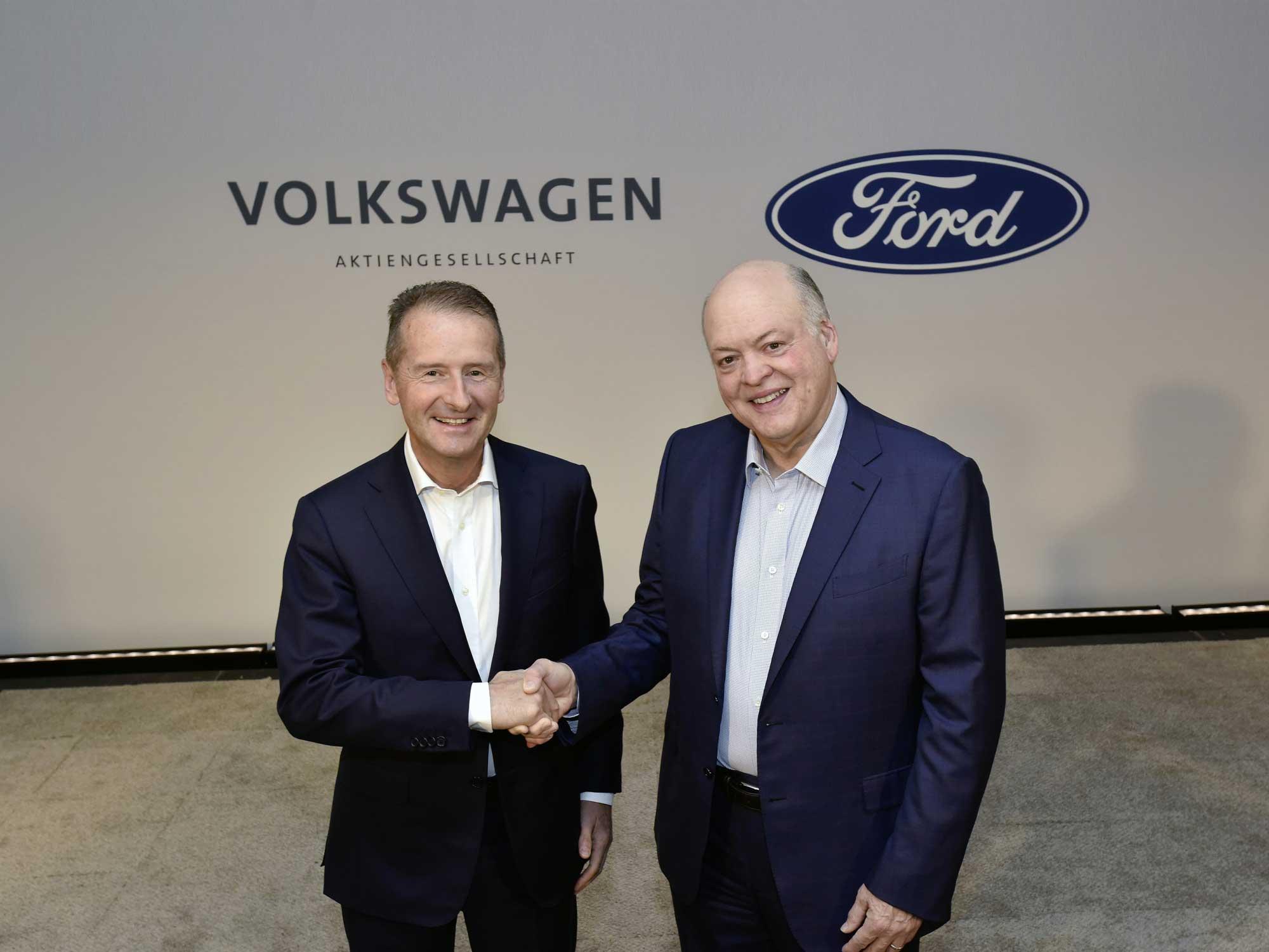 Så ska samarbetet mellan Volkswagen och Ford fungera